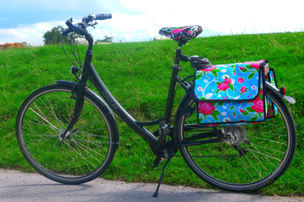 Mein Fahrrad unten an der Ruhr