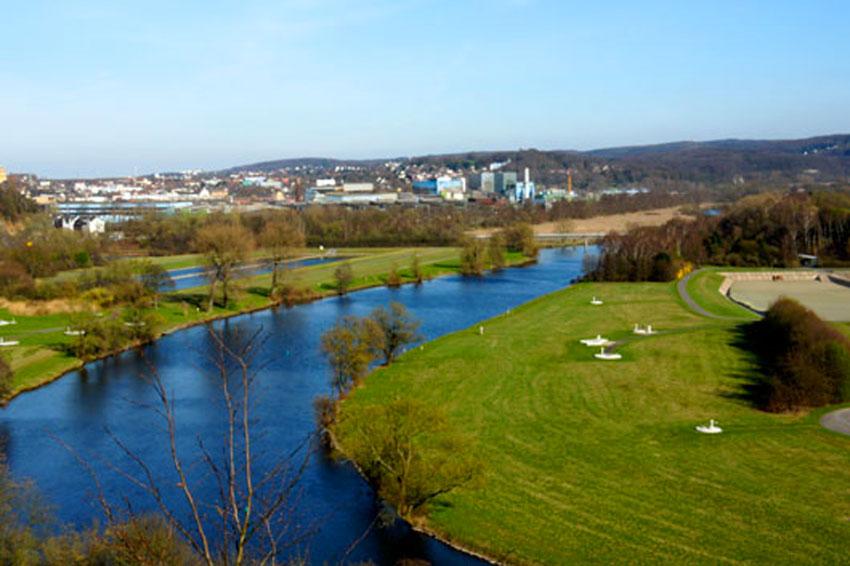 Ruhrtal bei Witten im Ruhrgebiet